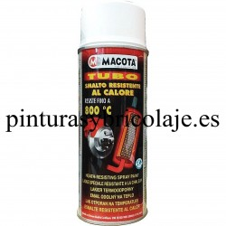 SPRAY MACOTA PINTURA ANTICALORICA BLANCO 800º 400 ml.